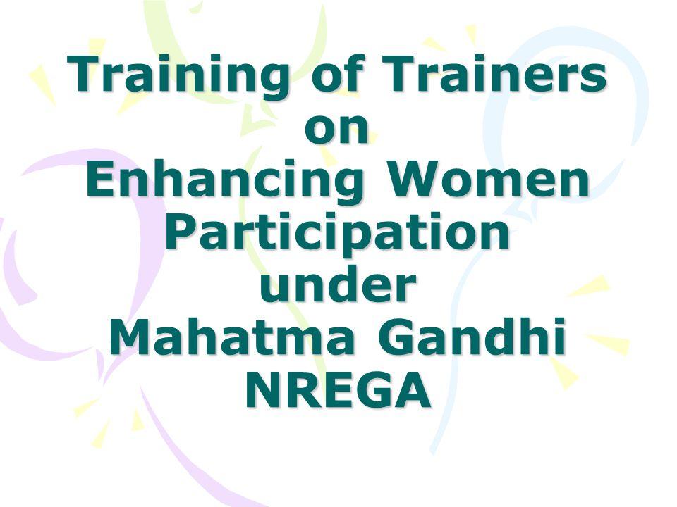 Object of the programme –Effective convergence of Mahatma Gandhi NREGA & National Rural Livelihood Mission.