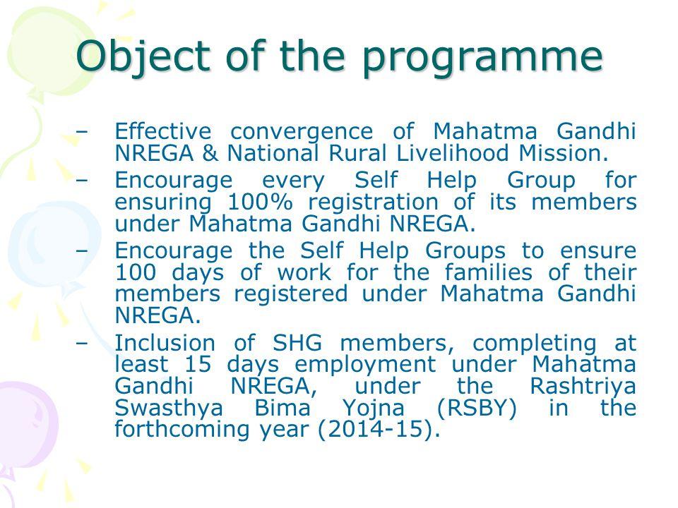 Prerequisites : 4.Awareness among the SHG members.