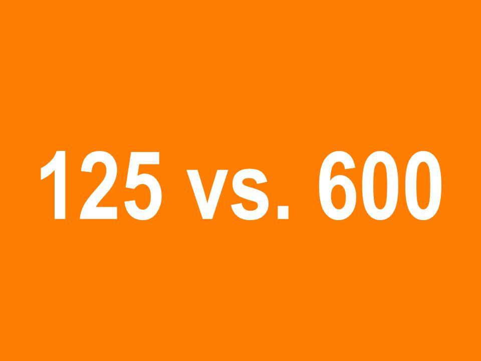 125 vs. 600