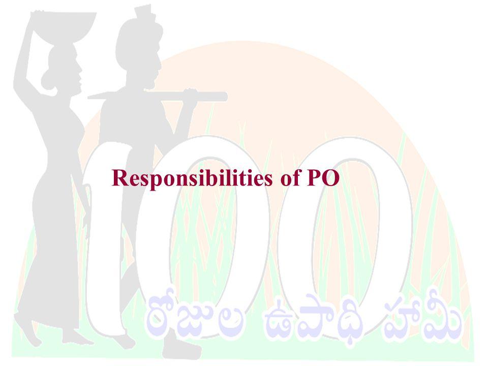 DWMA-Anantapur Responsibilities of PO