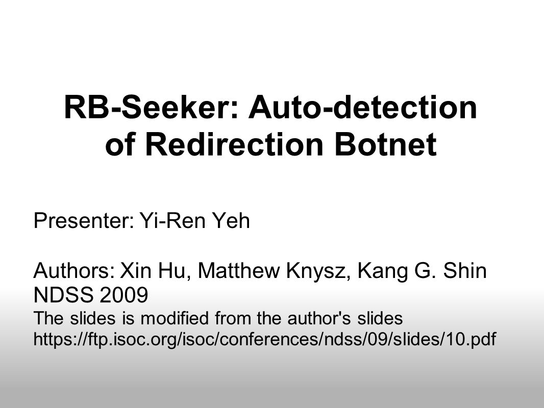 Outline Motivation of RB ‐ Seeker System Architecture Overview of subsystems Evaluation of results Conclusion