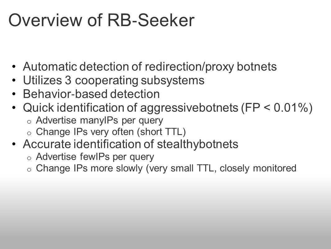 Aggressive RBnets: Redirection vs. Proxy Botnets