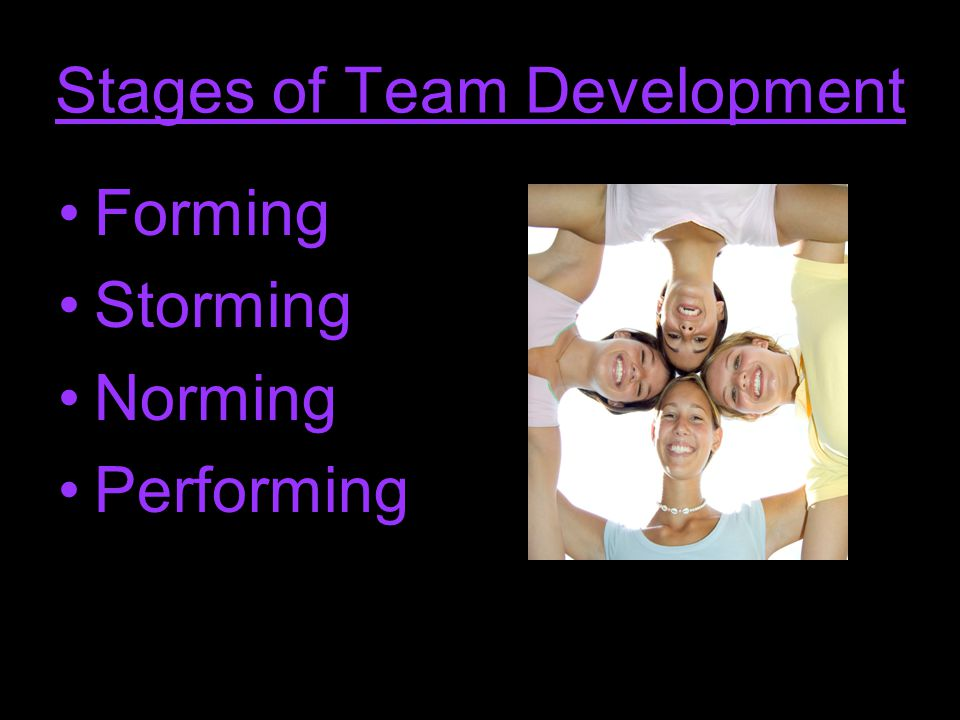 Forming - stage 1 High dependence on leader for guidance and direction.