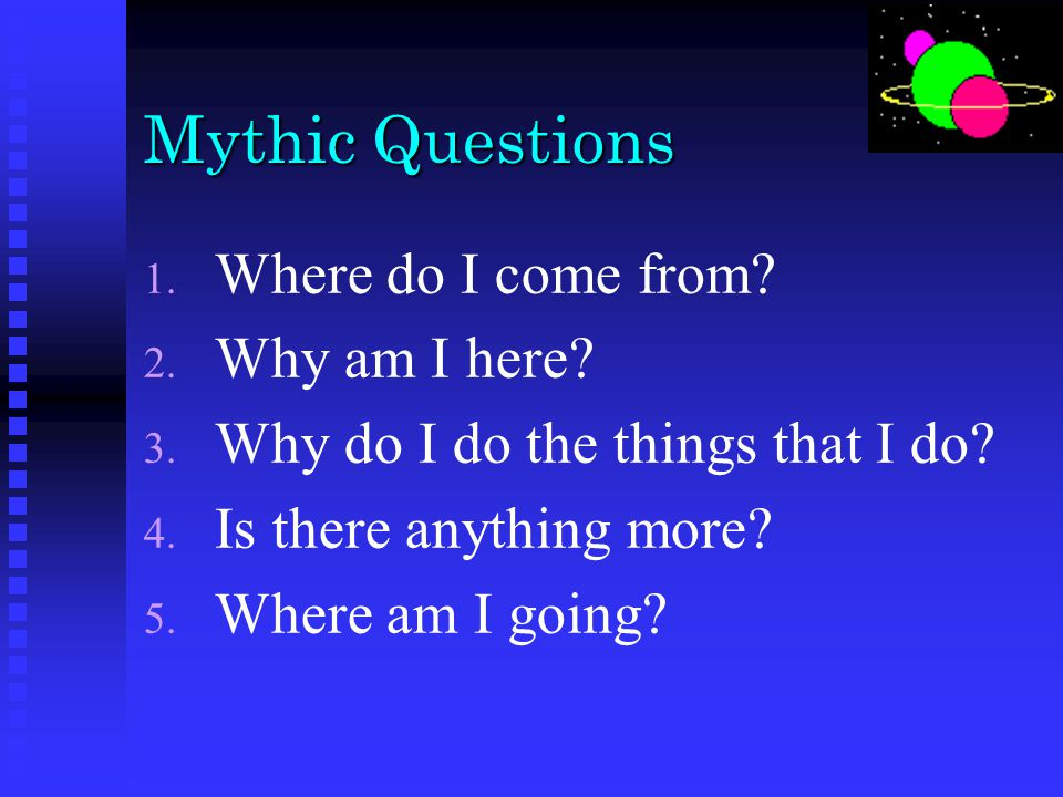 Understanding Mythological Systems
