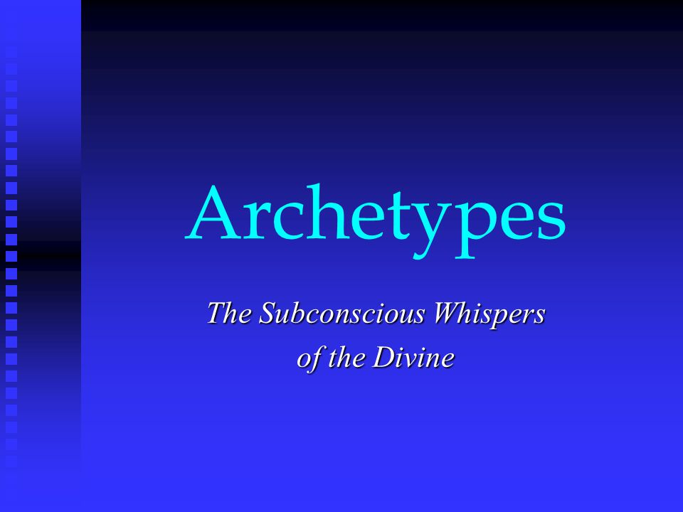 The Journey Archetype Also the Archetype of Rebirth 1.