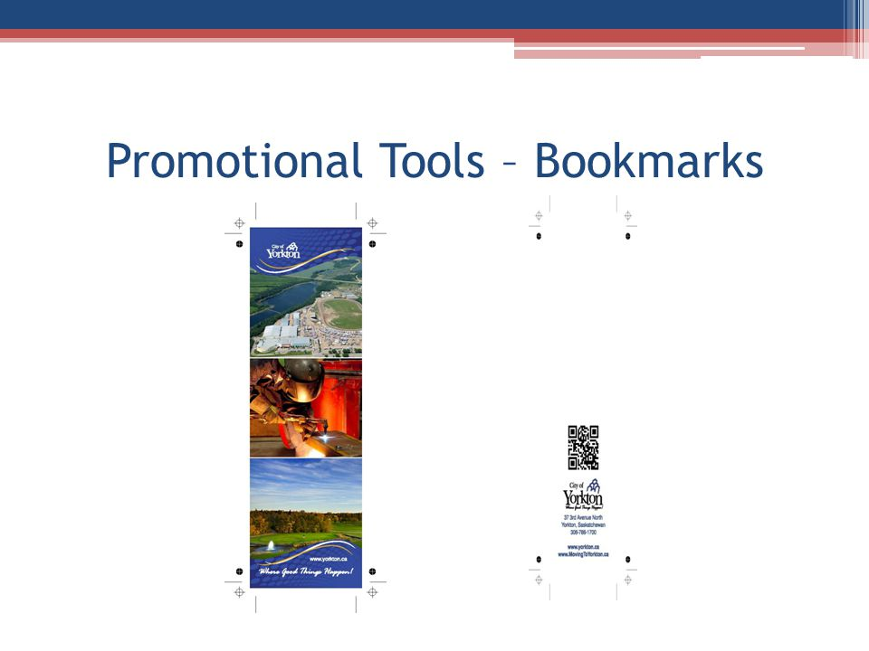 Promotional Tools – Bookmarks