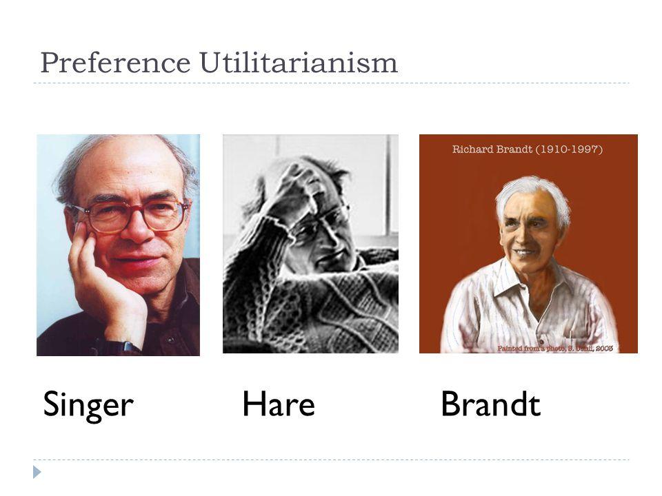 Preference Utilitarianism SingerHareBrandt