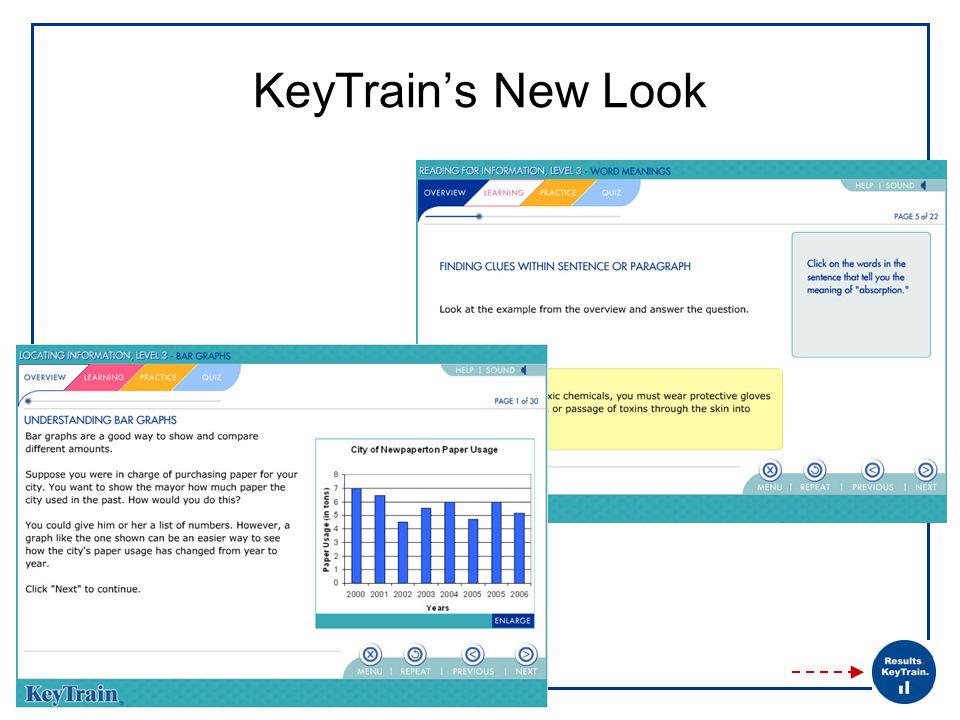 KeyTrain's New Look