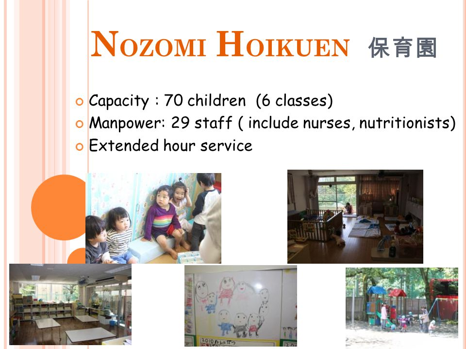 H AKUJUSO 白壽莊 A nursing-care home Serving elderly who cannot take custodial care at their home due to environmental or economical reasons Capacity : 168