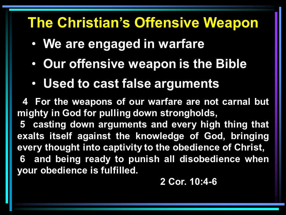 Sharpening the Sword NEVER pit scripture against scripture