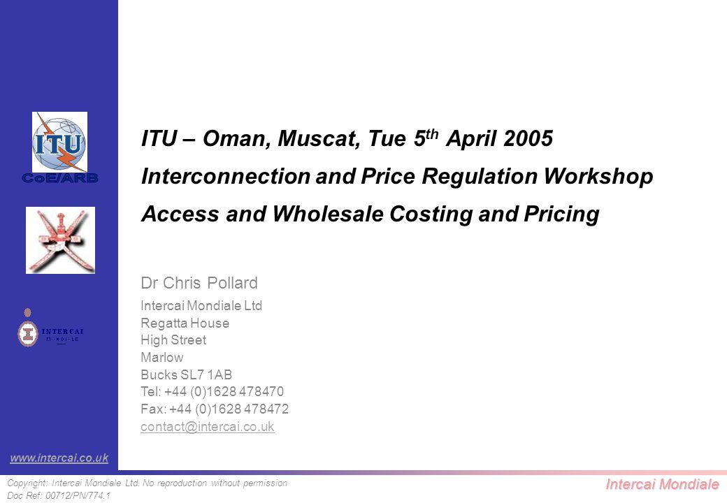 Intercai Mondiale Copyright: Intercai Mondiale Ltd.