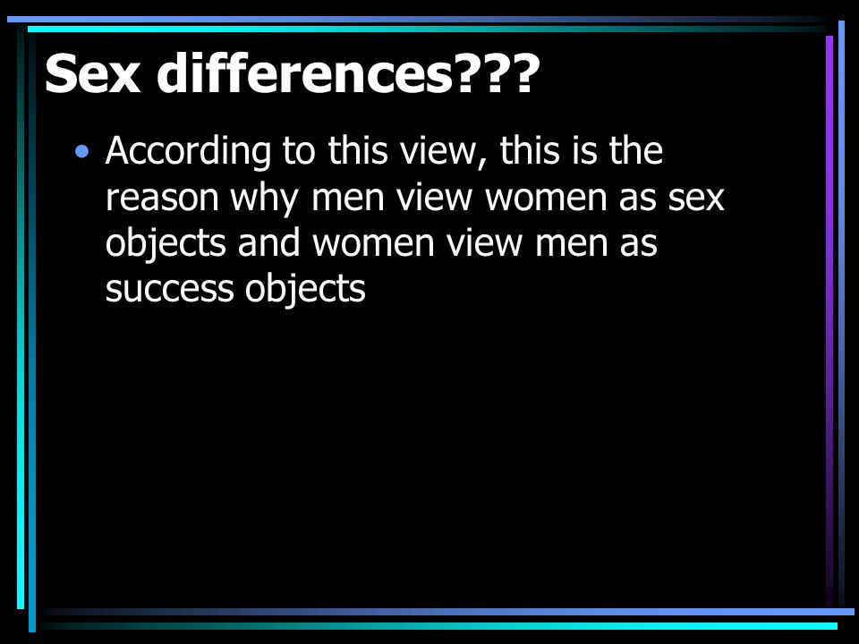 Sex differences .