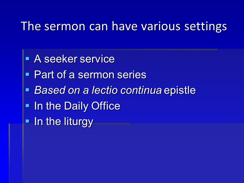 Assumptions of the Liturgy  A focus on the words and works of Jesus  The Word and the Sacrament  The priority of the Gospel and the Verba  The life of Christ in the calendar  The Proper in the liturgy of the Word