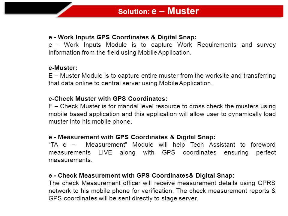 E - MUSTER Web Reports