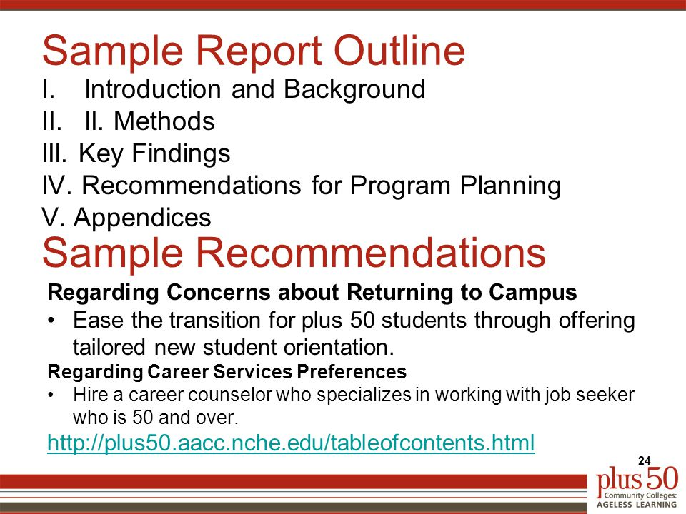 Sample Report Outline I.Introduction and Background II.II.
