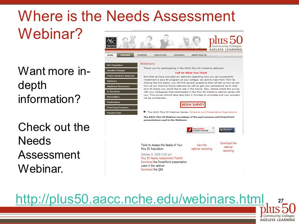 Where is the Needs Assessment Webinar.