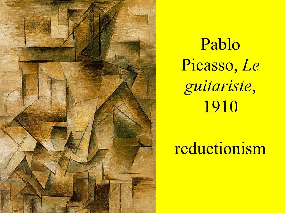 Pablo Picasso, Le guitariste, 1910 reductionism