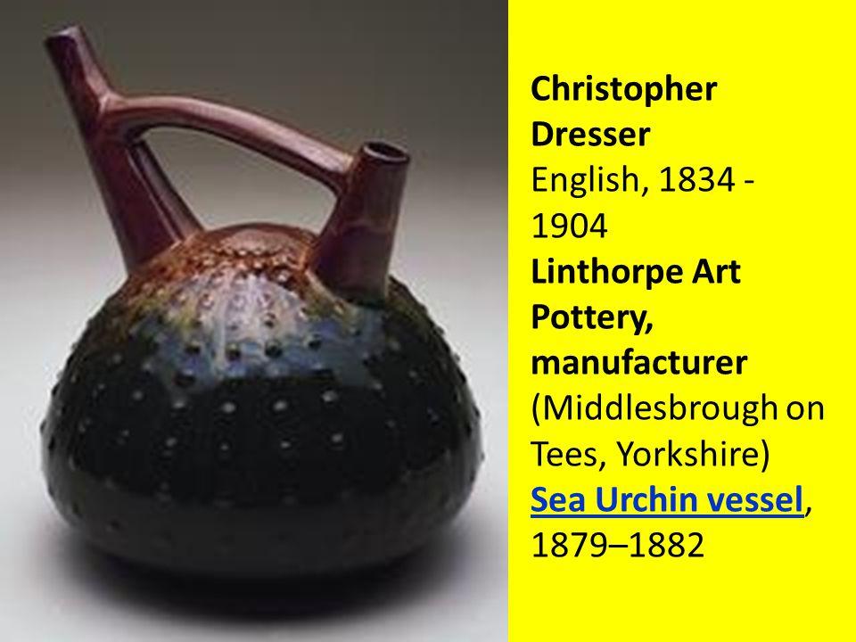 Christopher Dresser English, 1834 - 1904 Linthorpe Art Pottery, manufacturer (Middlesbrough on Tees, Yorkshire) Sea Urchin vessel, 1879–1882 Sea Urchin vessel