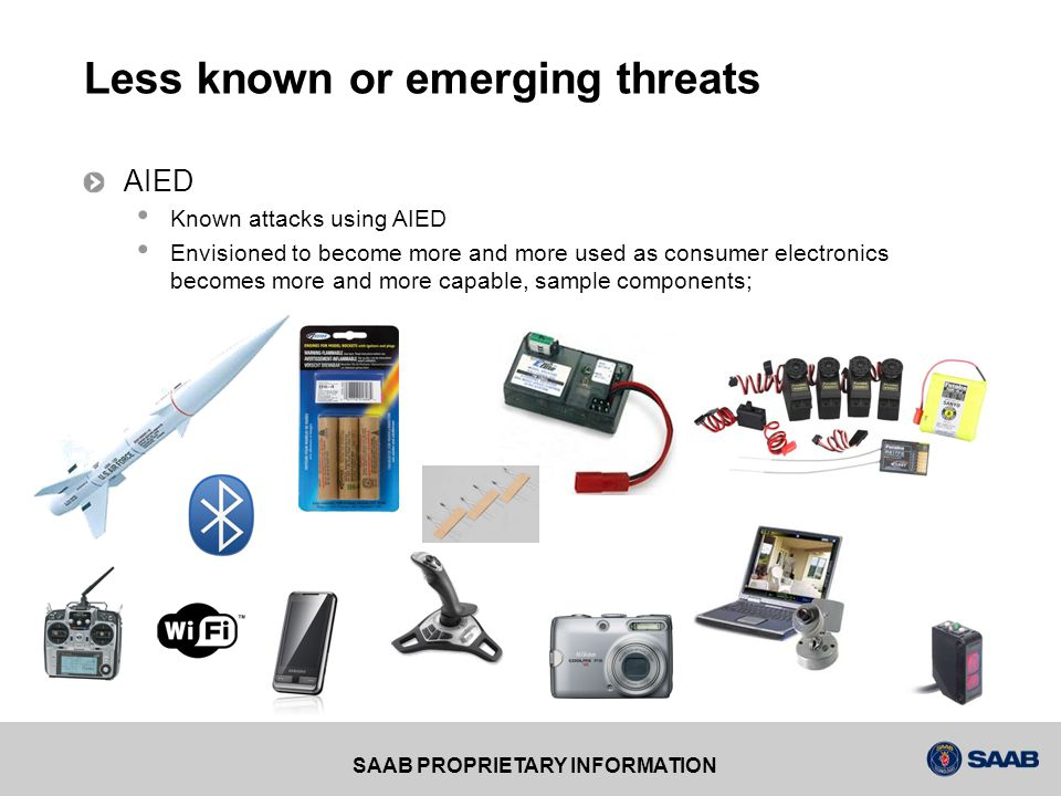 SAAB PROPRIETARY INFORMATION AIED Difficulty to decoy Threat technology AIED