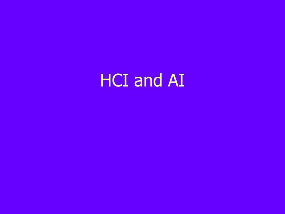 HCI and AI