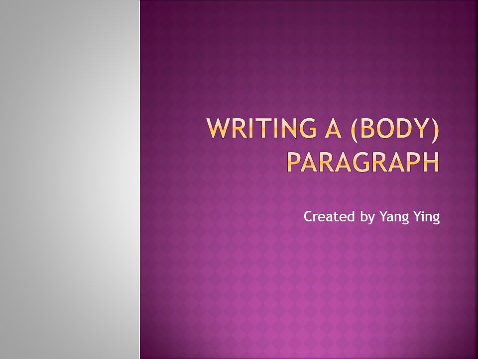 The following links contain more explanations for paragraph writing and examples of paragraphs:  http://www2.actden.com/Writ_Den/Tips/pa ragrap/index.htm http://www2.actden.com/Writ_Den/Tips/pa ragrap/index.htm  http://lrs.ed.uiuc.edu/students/fwalters/pa ra.html http://lrs.ed.uiuc.edu/students/fwalters/pa ra.html  http://howtowriteaparagraph.com/ http://howtowriteaparagraph.com/