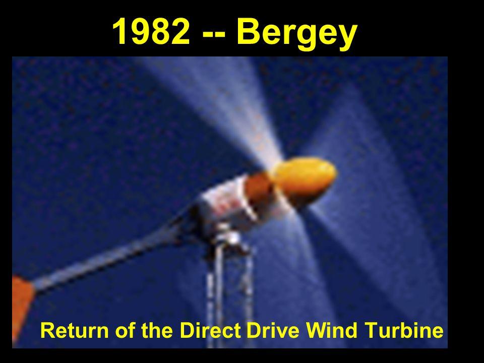 1982 -- Bergey Return of the Direct Drive Wind Turbine