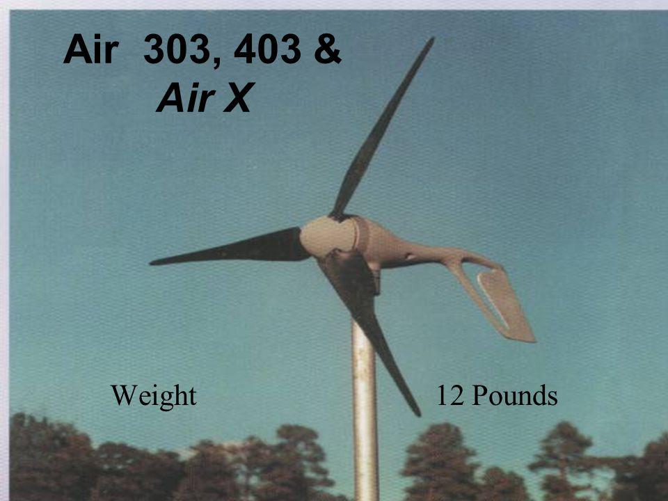 Air 303, 403 & Air X Weight 12 Pounds