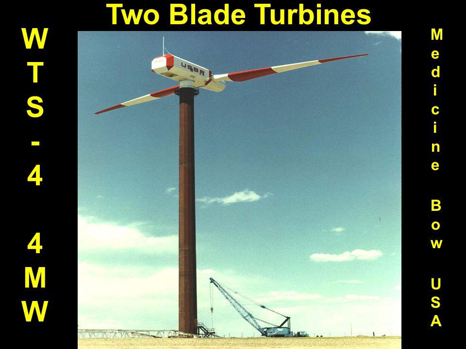 WTS-44MWWTS-44MW Medicine Bow USAMedicine Bow USA Two Blade Turbines