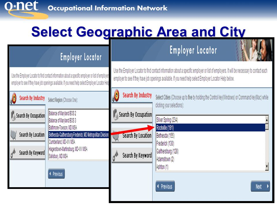 24 Select Geographic Area and City