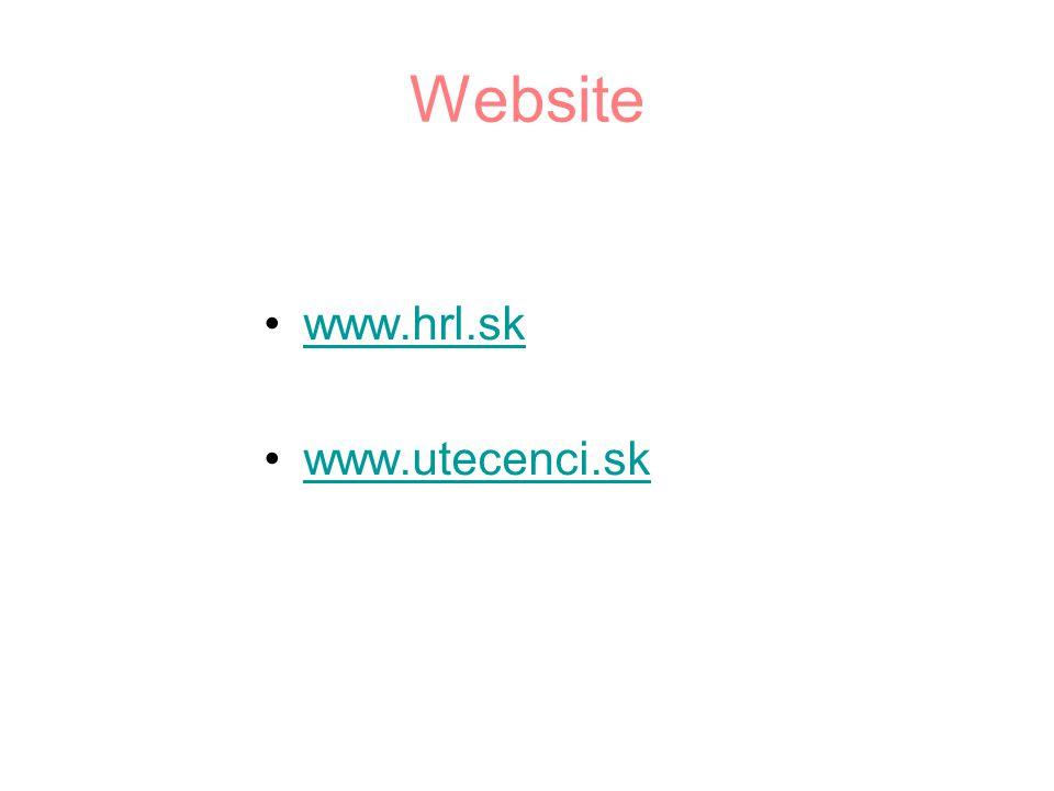 Website www.hrl.sk www.utecenci.sk