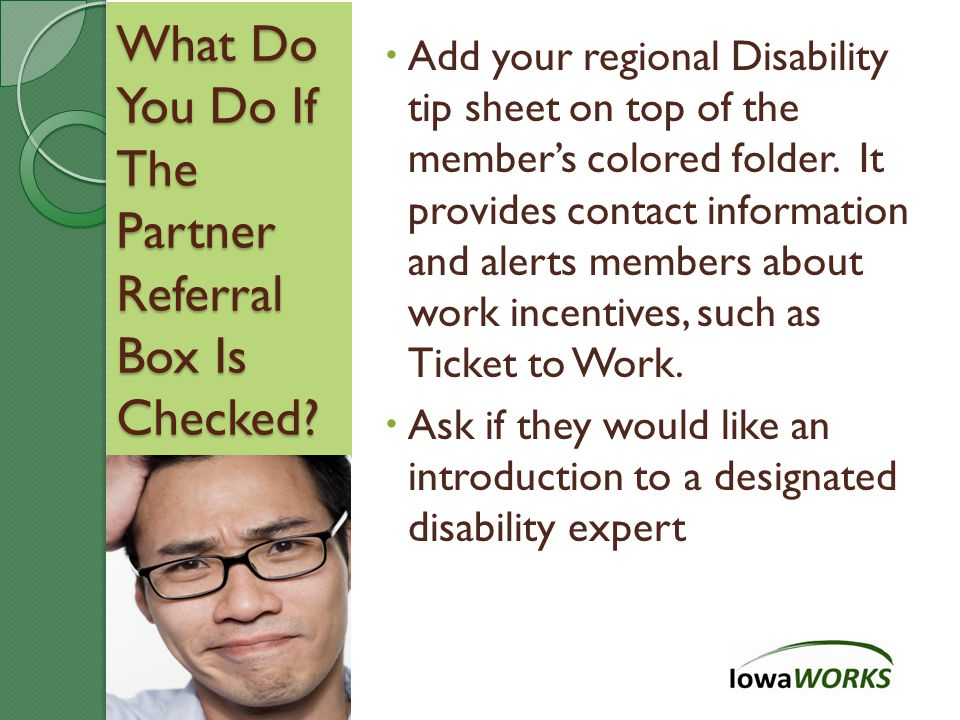 What Do You Do If The Partner Referral Box Is Checked.