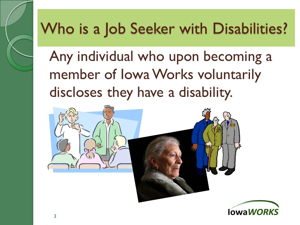 Who is a Job Seeker with Disabilities.