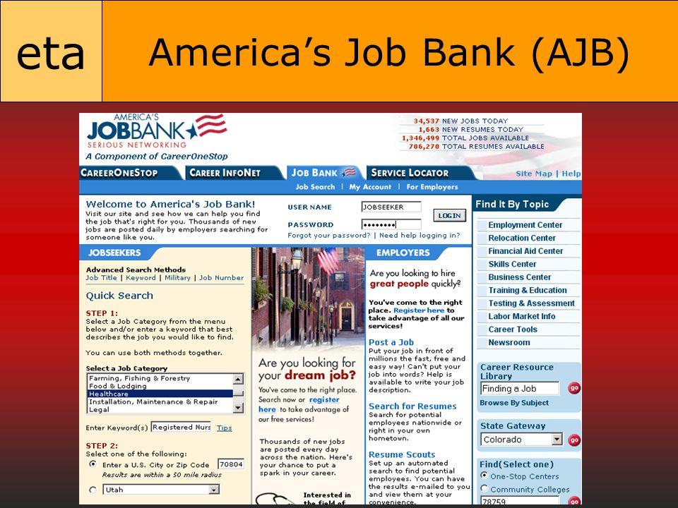 eta America's Job Bank (AJB)