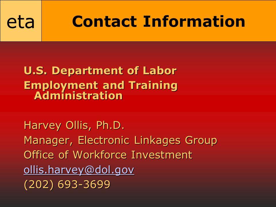 eta Contact Information U.S.
