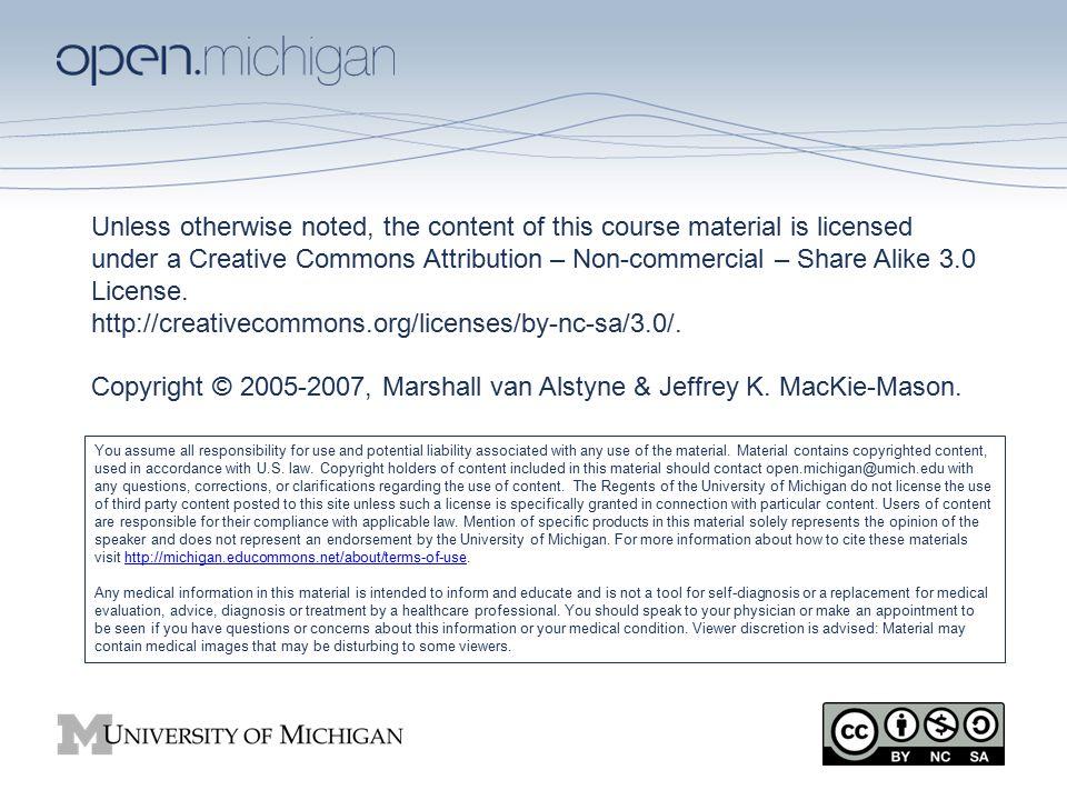 SI 646 Information Economics Jeff MacKie-Mason