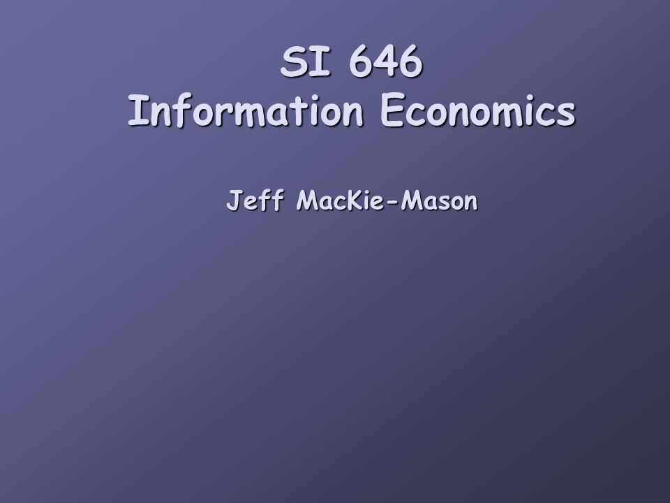 Shapiro and Varian apply the old economic principles to new digital information questions