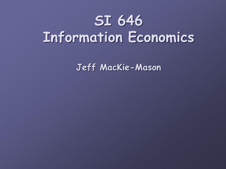 The economics of information goods