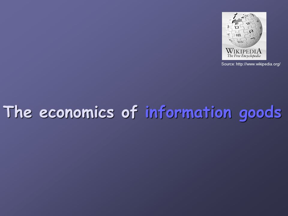Information is an experience good every time it s consumed.