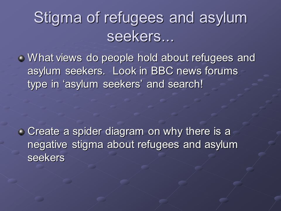 Stigma of refugees and asylum seekers...