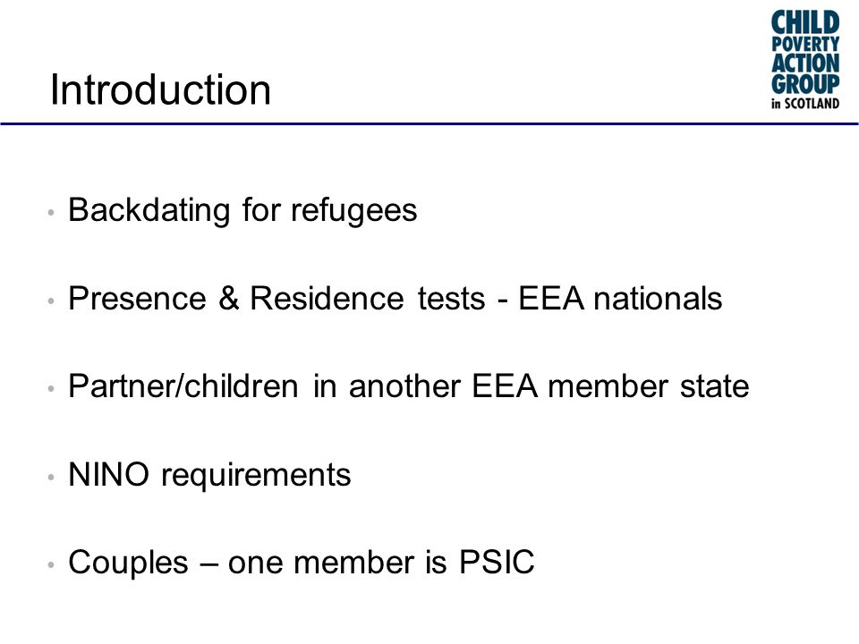 Backdating for refugees Claim tax credit within three months of being notified of refugee status Can be backdated more than three months - treated as made on the date claimed asylum under Tax Credits (Immigration) Regs, 3 Grant of asylum is a recognition of refugee status – it does not confer that status R(IS)9/98 Retrospective duties arise under UN Geneva Convention 1951, Article 24 equal treatment