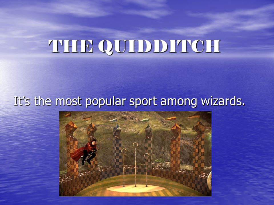 THE QUIDDITCH It's the most popular sport among wizards.