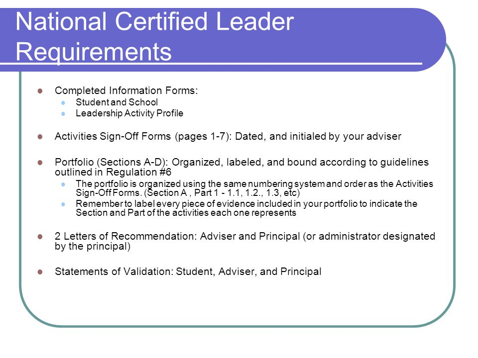10.6 Complete the Individual Leader Evaluation Form and summarize the results.
