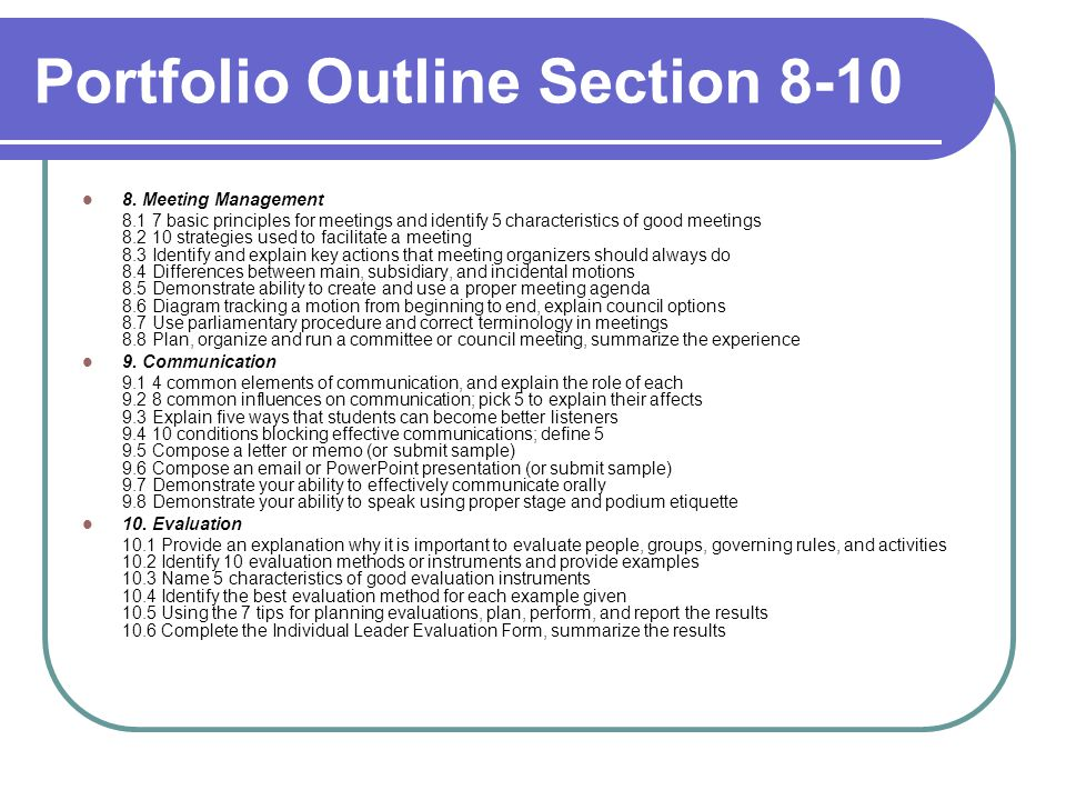 Section A, Part 7: Time Management & Personal Organization 7.2 Identify 10 strategies to improve personal organization 1.
