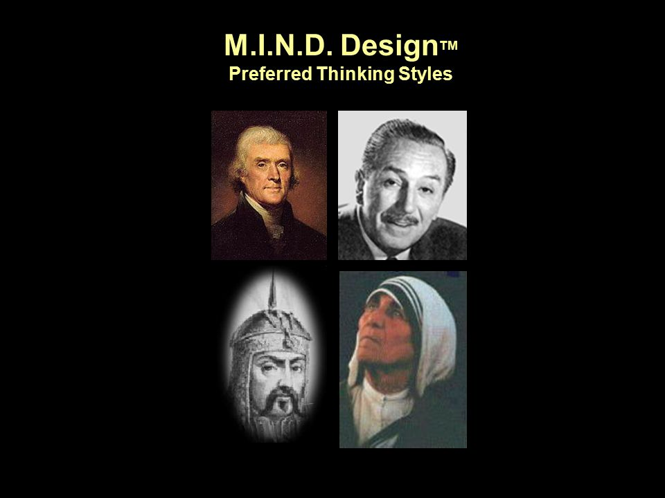 M.I.N.D. Design TM Preferred Thinking Styles