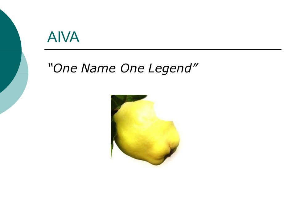 "AIVA ""One Name One Legend"""