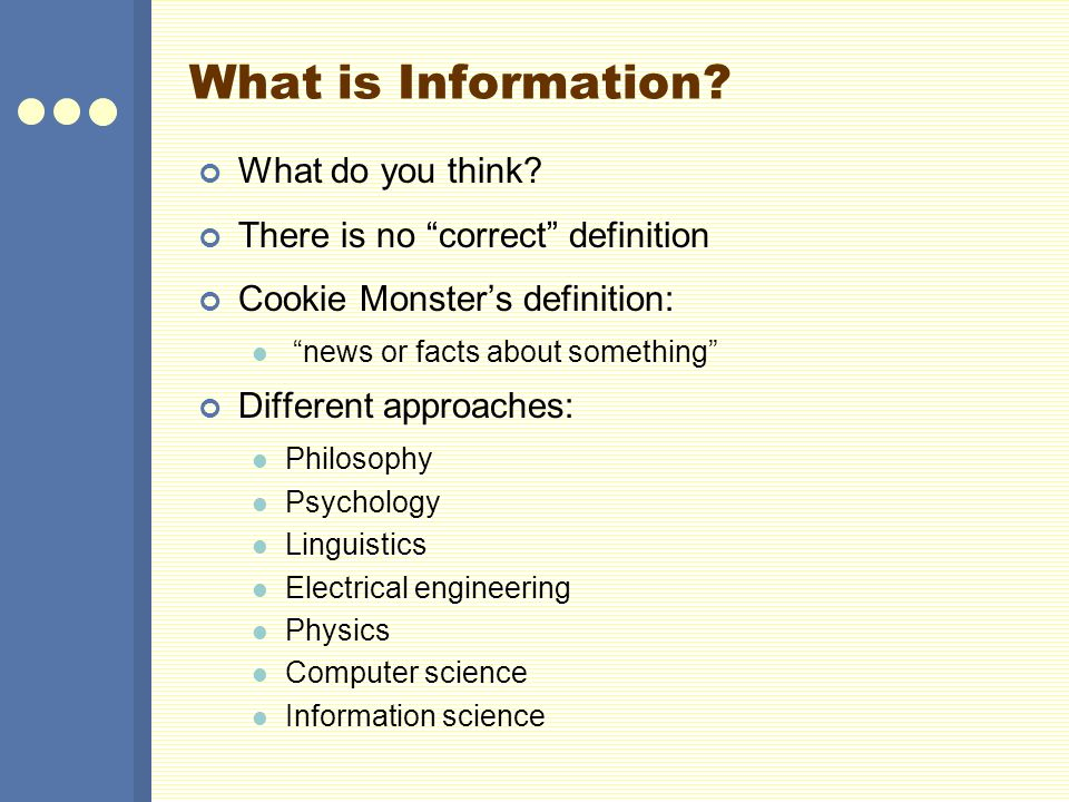 What is Information. What do you think.