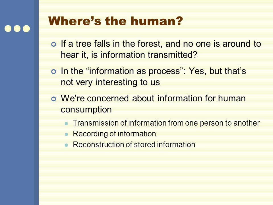Where's the human.