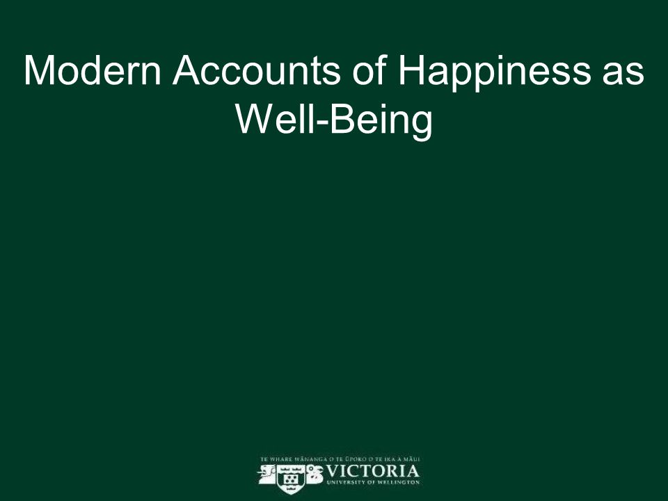 Modern Accounts of Happiness as Well-Being