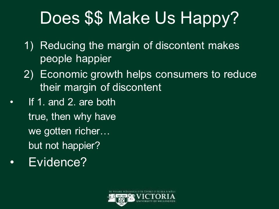 Does $$ Make Us Happy.