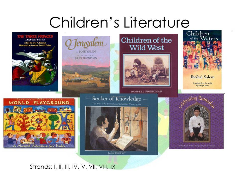 Children's Literature Strands: I, II, III, IV, V, VII, VIII, IX